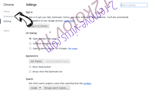 .bart file Virus Chrome settings