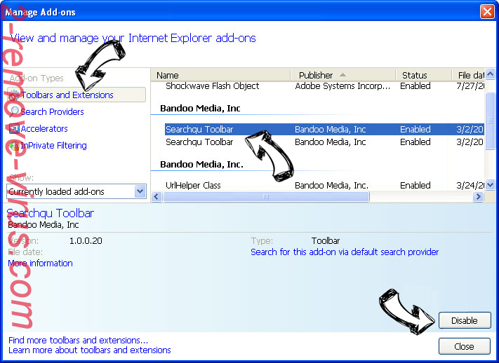 Youfind.online IE toolbars and extensions