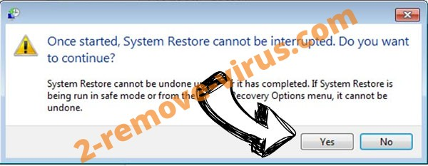 CryptoLocker removal - restore message