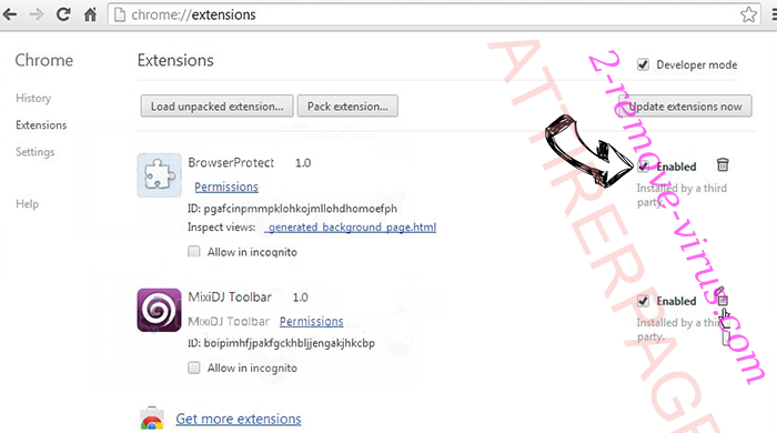 Myway Hijacker Chrome extensions disable