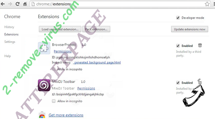 Putlocker.rs Chrome extensions remove