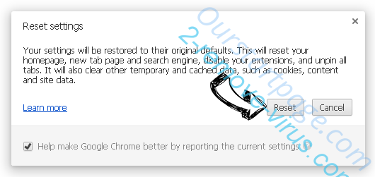 Search.djinst.com entfernen Chrome reset