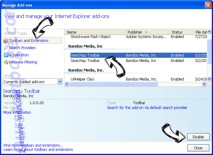 Zepto Locker Virus IE toolbars and extensions