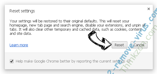 Thinkzon.com Chrome reset