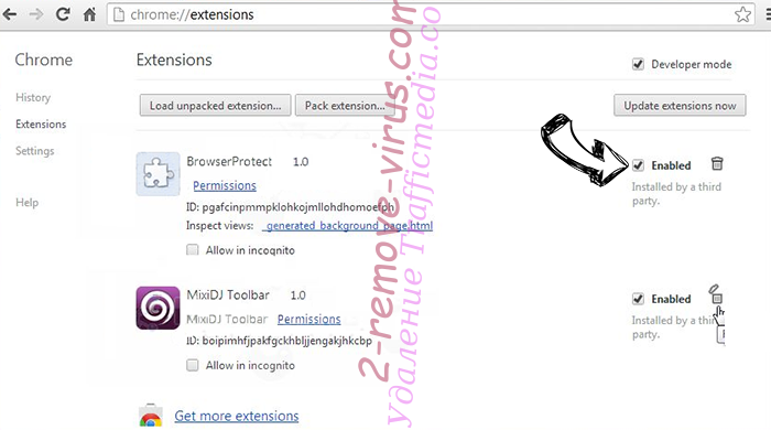Symbiostock.info Chrome extensions disable