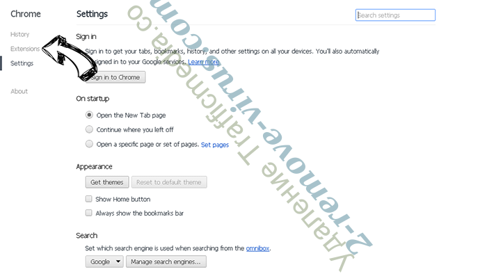 Symbiostock.info Chrome settings