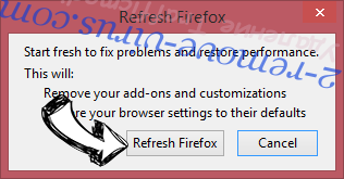 Удаление Trafficmedia.co Firefox reset confirm