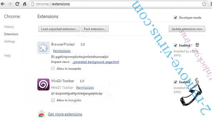 Unlock92 Virus Chrome extensions remove