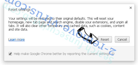 Search.funsecuritytab.com - comment faire pour supprimer? Chrome reset