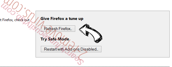 FF Update Checker adware Firefox reset
