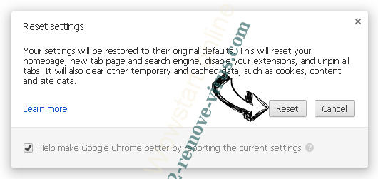 Othersearch virus Chrome reset