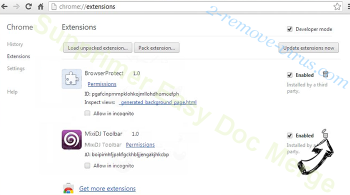 Easy Doc Merge Chrome extensions remove