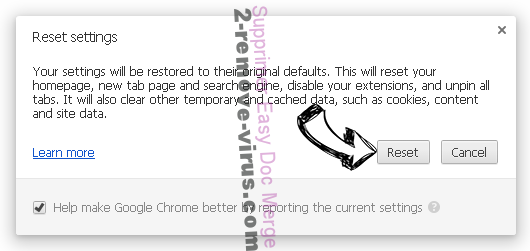 Easy Doc Merge Chrome reset