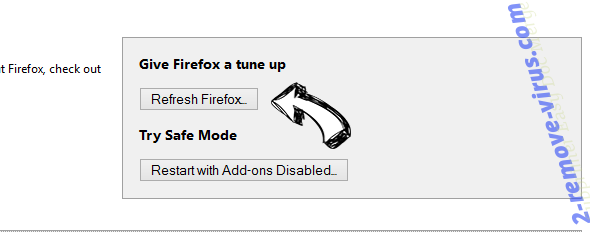Search.safefinder.info Firefox reset