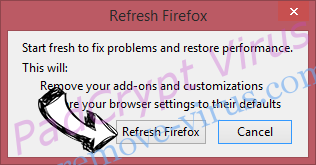 Search.romeatonce.com Firefox reset confirm
