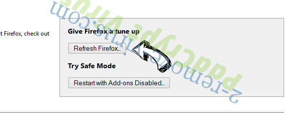 Search.romeatonce.com Firefox reset