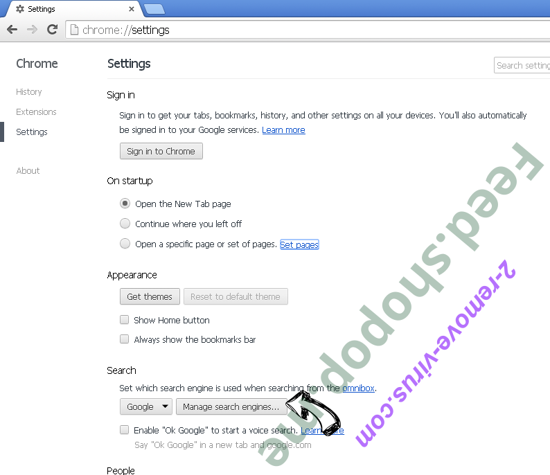 Feed.shopop.me Chrome extensions disable
