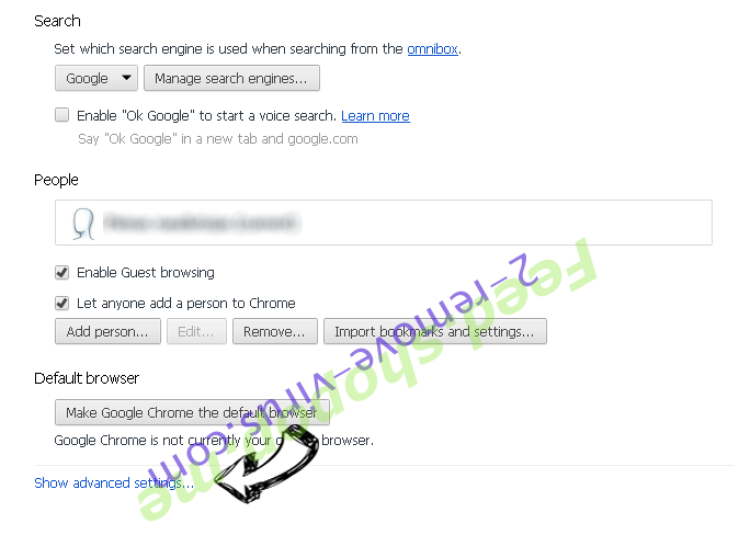search.trendsearch.online Chrome settings more