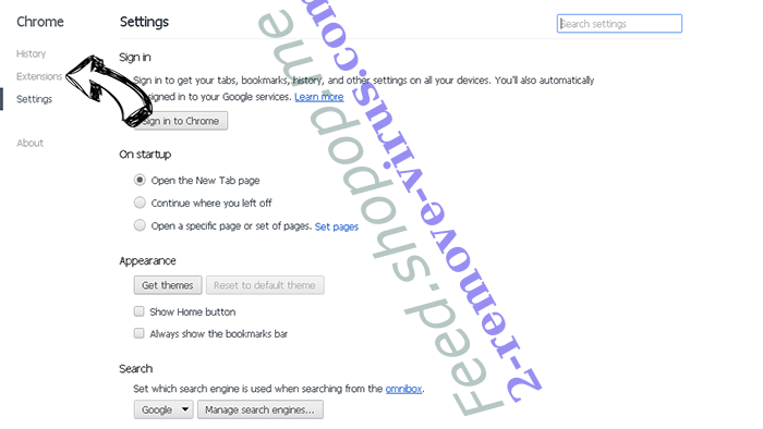 Topsocialtabsearch.com Chrome settings