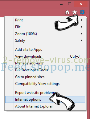 Feed.shopop.me IE options