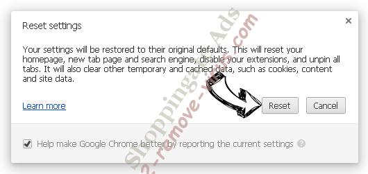 Torch Browser Chrome reset