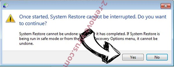 Gehad ransomware virus removal - restore message