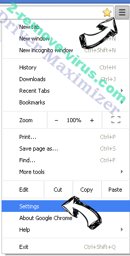 Tangosearch.com Chrome menu