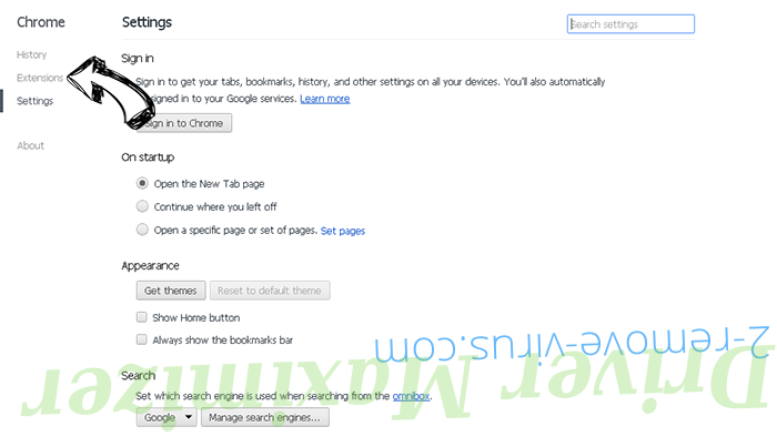 WinAD Chrome settings