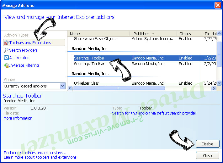 Driver Maximizer IE toolbars and extensions