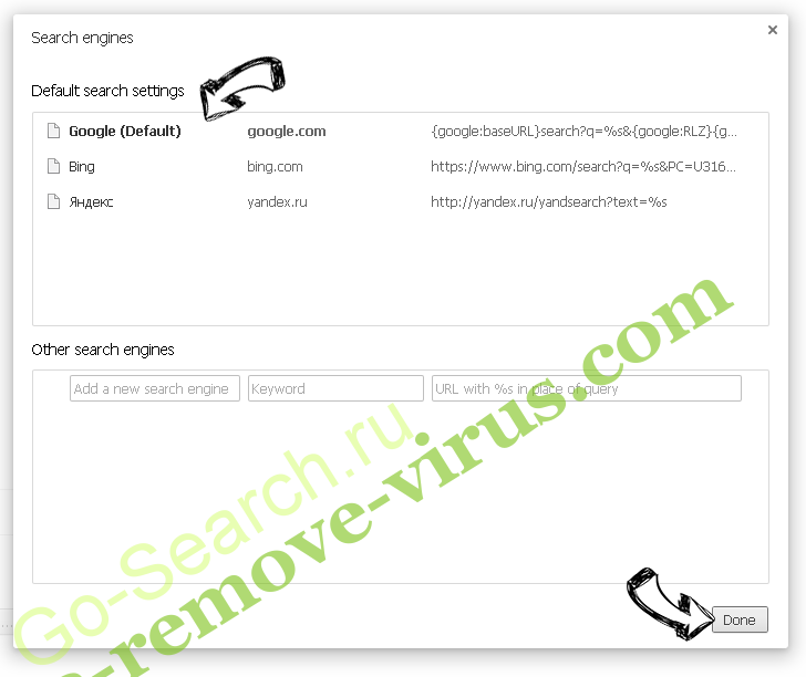 Go-Search.ru Chrome extensions disable