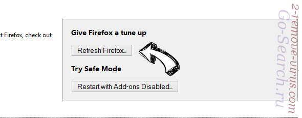 Go-Search.ru Firefox reset