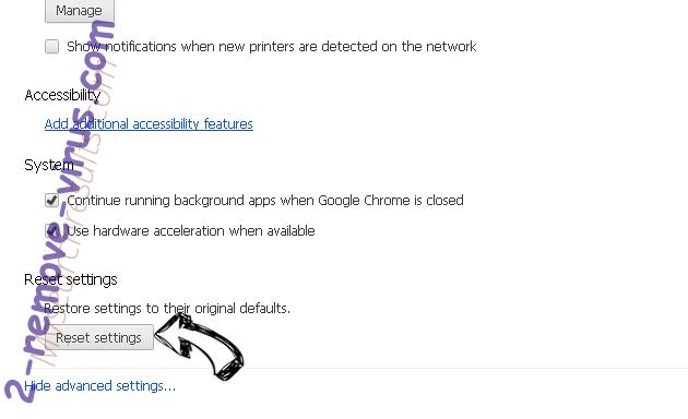 Mysearchresults.com Chrome advanced menu