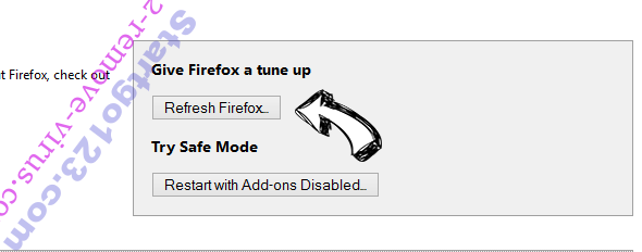 Search.safefinder.com Firefox reset