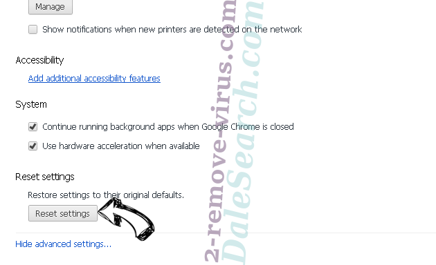 Adnetworkperformance.com Chrome advanced menu