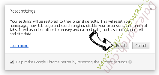 DaleSearch.com Chrome reset