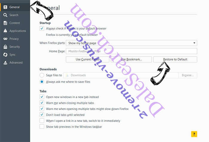 ADD MUSICPRO NEW TAB Firefox reset confirm