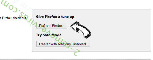 Webssearches.com Firefox reset