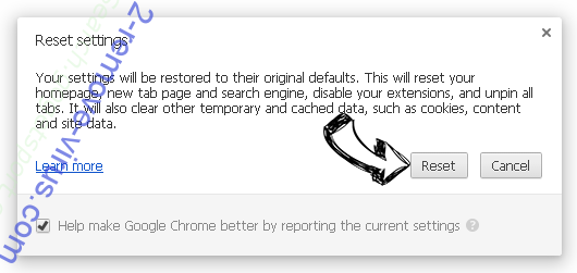 Web-start-page.com Chrome reset