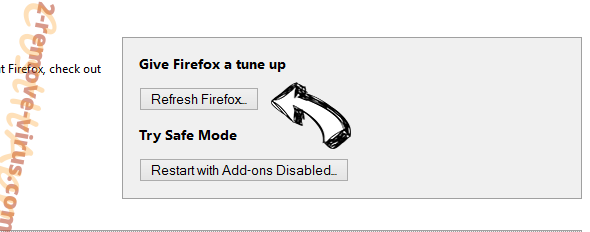 TrackMyPackage.co Firefox reset
