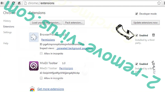RespectSale Ads Chrome extensions disable