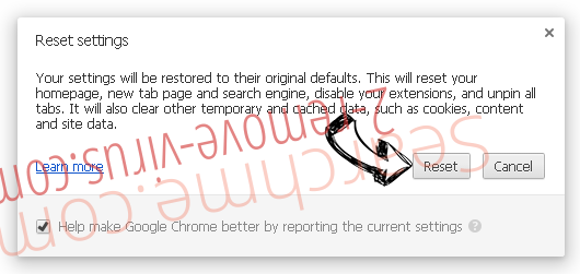 Chromium Browser Chrome reset