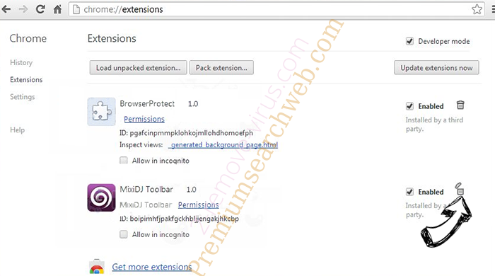 Search Protect by Conduit Chrome extensions remove