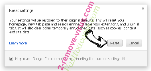 Yahoo Redirect Virus Chrome reset