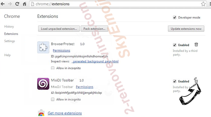 Jabuticaba Chrome extensions remove