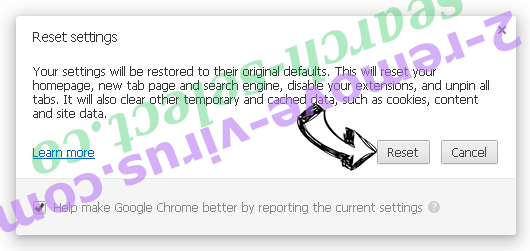 Website Che Chrome reset
