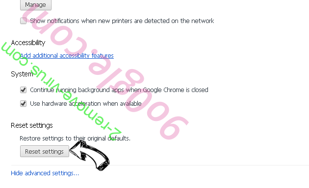 DNS Unlocker adware Chrome advanced menu