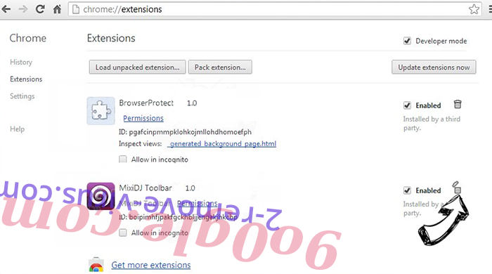 Search.lakador.com Chrome extensions remove