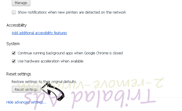 Smart Defragmenter Chrome advanced menu