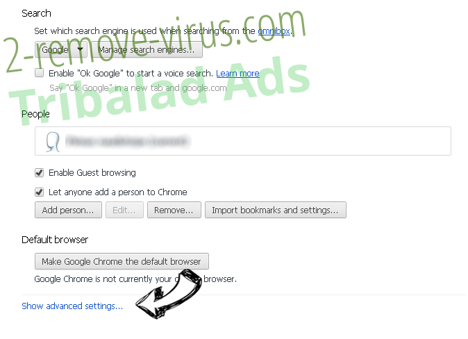 GlobaSearch.com Chrome settings more