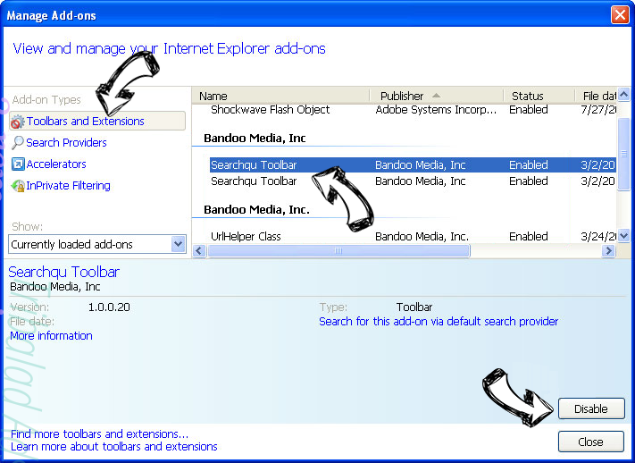 Smart Defragmenter IE toolbars and extensions